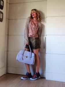 Shorts and flats: comfortable but stylish!