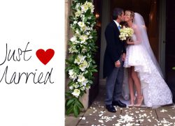 Just married…