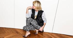Leopard print jeans!