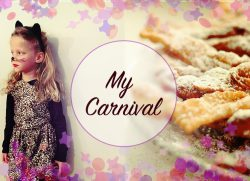 My Carnival with Mia: mask and chiacchiere