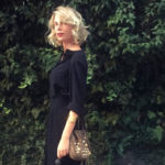 Total black look for a ladies' night out