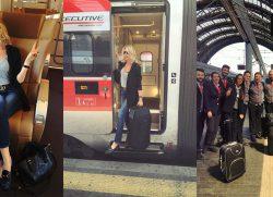 In treno verso Milano… Il mio look da viaggio!