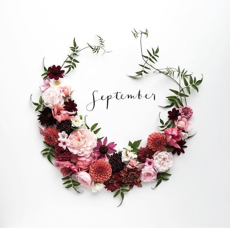 _September Floral Wreath
