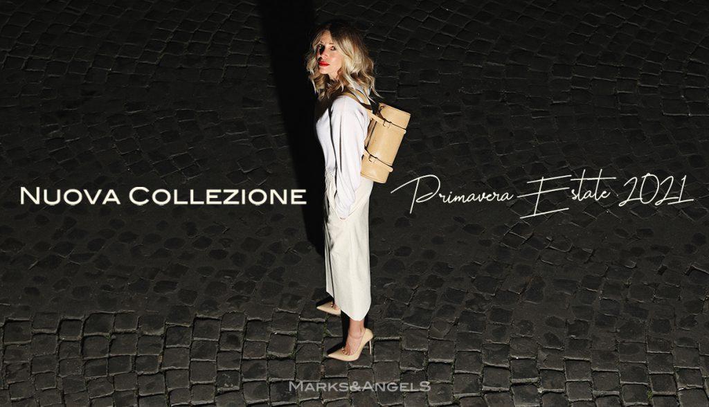 Alessia Marcuzzi Marks and Angels borse collezione primavera estate 2021 made in italy